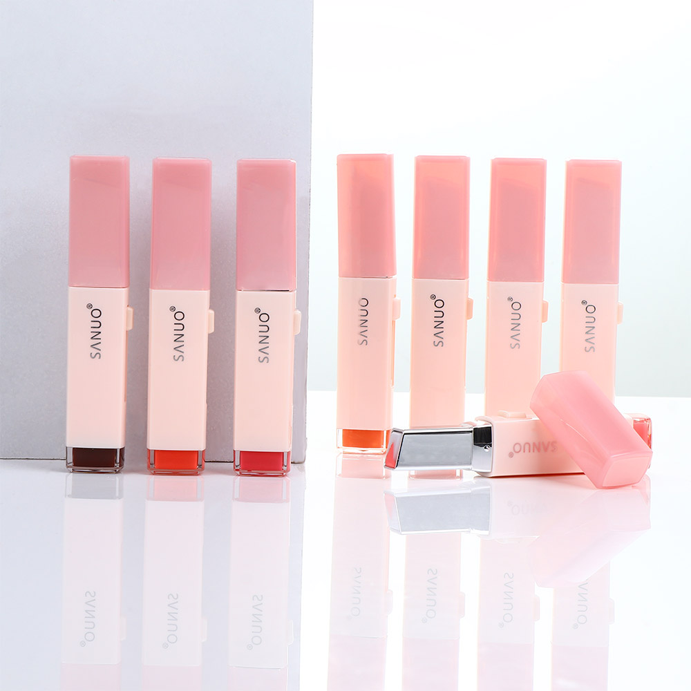 Fashion Korean Nutritious Lipstick V Cutting Two Tone Tint Silky Moisturizing Nourishing Lip Balm Gradient Color Lip Care image