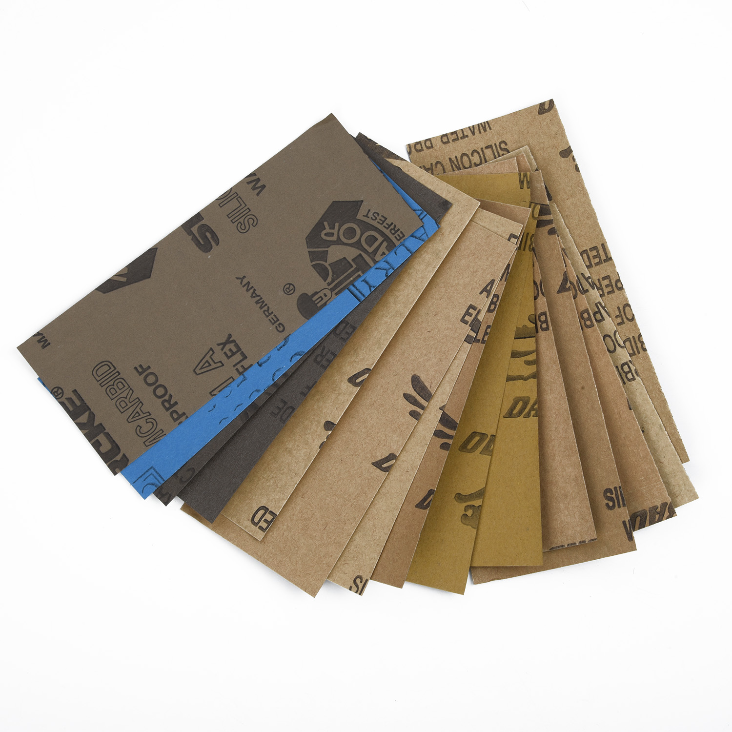 15PCS 57*140mm Wet And Dry Sand Paper Polishing (150-7000 Grit 1PCS/Each) For Polishing Metal Glass