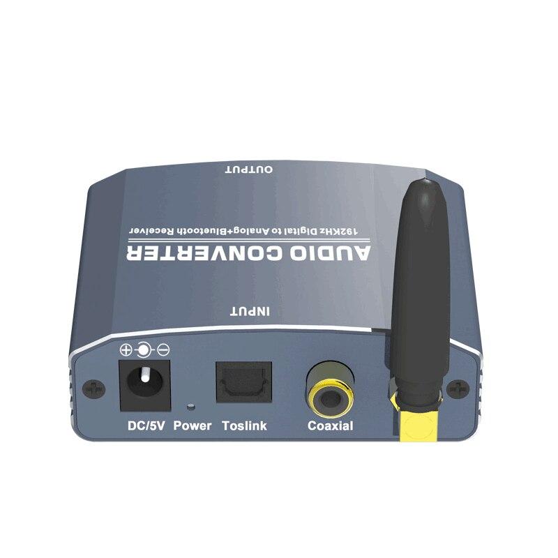 192 Khz Bluethooth Dac Digitaal Naar Analoog Audio Converter Met Bluetooth Ontvanger Ondersteuning 5.1CH Dts Met Volume Control Voor Telefoon 5