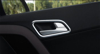 For ix25 Hyundai Creta Chrome Inner door bowl cover styling stickers ABS trim accessory products Interior Mouldings 2015-18