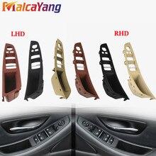 Alta qualidade maçaneta da porta interior do carro painel puxar guarnição capa lhd rhd para b mw série 5 f10 f11 520i 523i 525i 528i