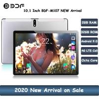 2020 novo 10.1 polegada tablet pc octa núcleo android 9.0 google play 4g lte tablets wifi gps 2.5d 1280*800 vidro temperado 10 polegada guia