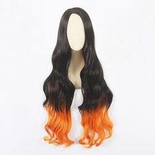 Парик для косплея hairjoy из синтетических волос длинный кудрявый