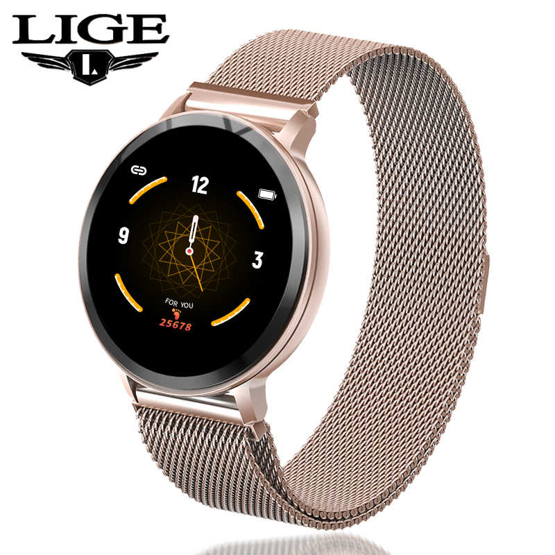 Ini Smart Gelang Wanita Tahan Air Kebugaran Tracker Heart Rate Tekanan Darah Monitor Pedometer Olahraga Watch Smart Gelang + Kotak