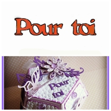Pour toi French Word Die Cuts For Card Making French Word Pour toi dies scrapbooking metal cutting dies new 2019 toi morning24pcs