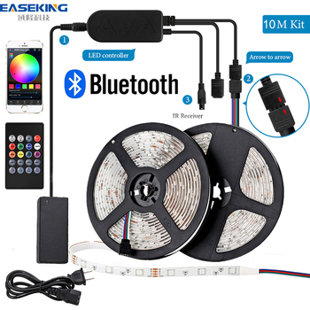 LED Strip Light RGB 5050 Bluetooth Lights for room bar tv ribbon Tape 12v 5m 10m 15m 20m Backlight
