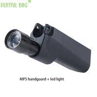 Outdoor sports fun toys LDT JiQu MP5 full stroke live action cs electric burst water bullet gun flashlight handguard RD05