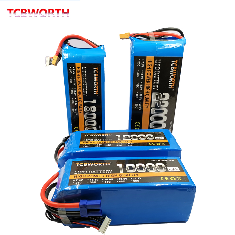 6S RC Aircraft LiPo Battery 22.2V 10000mAh 25C 35C 6S For RC Airplane Drone Car Boat Helicopter 10Ah Batteries LiPo AKKU image