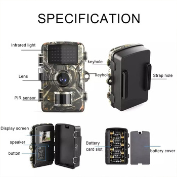DL-100 Hunting Trail Camera Wildlife Camera Night Vision Motion Activated Outdoor Forest Camera Trigger Wildlife Scouting Camera 5