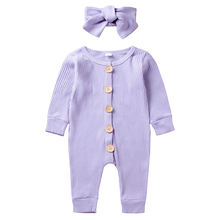 AmzBarley Baby girl Romper Long sleeves baby onesie+ Bowknot headband Newborn Birthday party outfits Autumn Cotton clothes