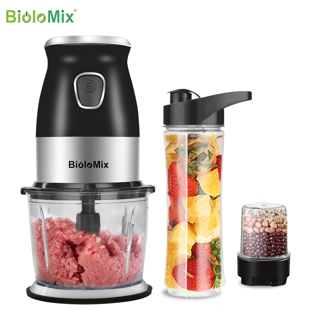 BPA FREE 500W Portable Personal Blender Mixer Food Processor With Chopper Bowl 600ml Juicer Bottle Meat Grinder Baby Food Maker|Blenders|   - AliExpress