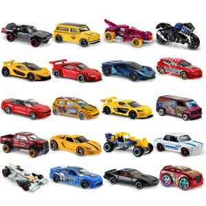 Image 4 - 5 adet 72 adet/kutu sıcak tekerlekler araba Model oyuncaklar çocuklar için Diecast Metal plastik Hotwheels Brinquedo sıcak çocuk oyuncakları çocuklar için kamyon seti
