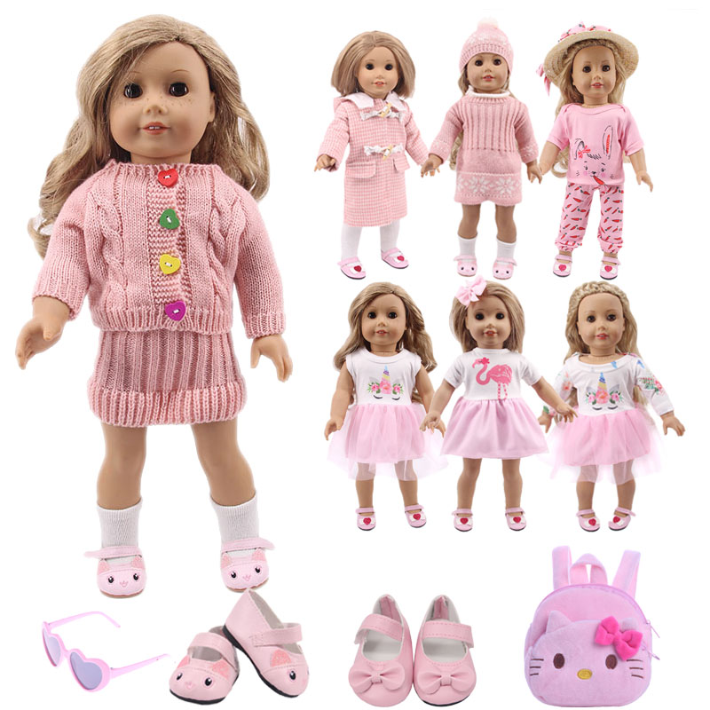 15 Styles Unicorn Dress,Cat Shoes Pink Set Doll Clothes Accessories For 18 Inch American&43Cm Born Baby,Generation,Girl's Toy