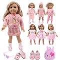 Женское платье единорога, Розовая обувь для кошек, комплект одежды для кукол, аксессуары для 18-дюймовых американских и 43 см новорожденных, п...