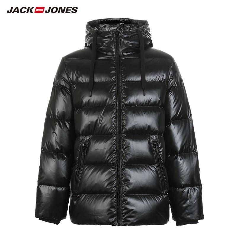 JackJones Winter Men's Hooded Down Jacket Short Coat Menswear 218412556