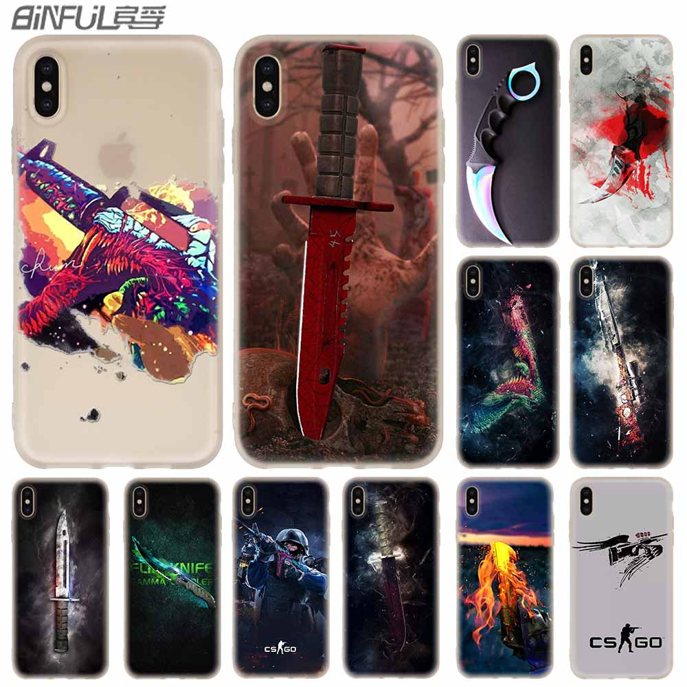 Counter Strike CS GO Cover <font><b>Baseus</b></font> Clear Case Silicone soft for <font><b>iPhone</b></font> X 11 Pro XS Max XR <font><b>6</b></font> 7 8 Plus 5 12 S Cases Funda image
