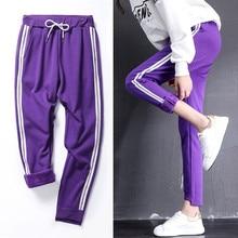 цены Women's Trousers Workout Pants Thick Warm Plus Velvet Side Stripe Sweatpants Pants Clothes Sweatpants For Women Winter Joggers