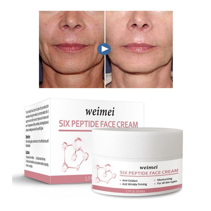 Weimei Six Peptide Cream Wrinkles Removal Anti-Aging Anti Lifting Firming Whitening Face Cream 50ml Skin Care