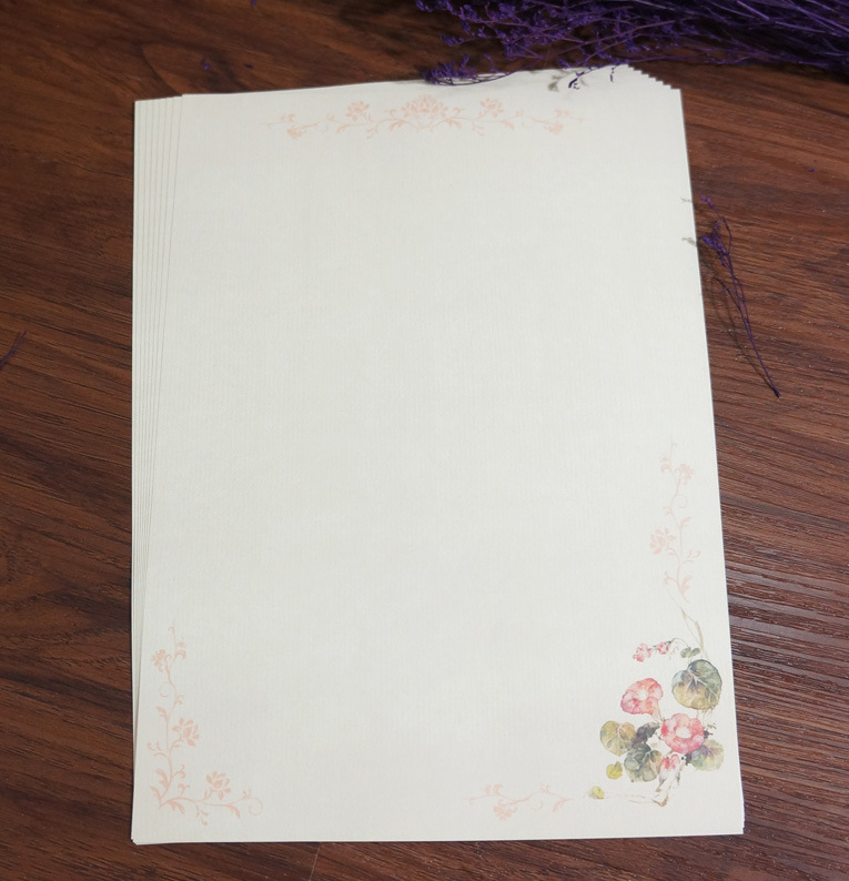 Sui Yue Fang Ancient Elegance Petty Retro Writing Paper Pink Florid