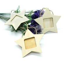 10Pcs Diy Wooden Photo Frame Hanging House Love Five-Pointed Star