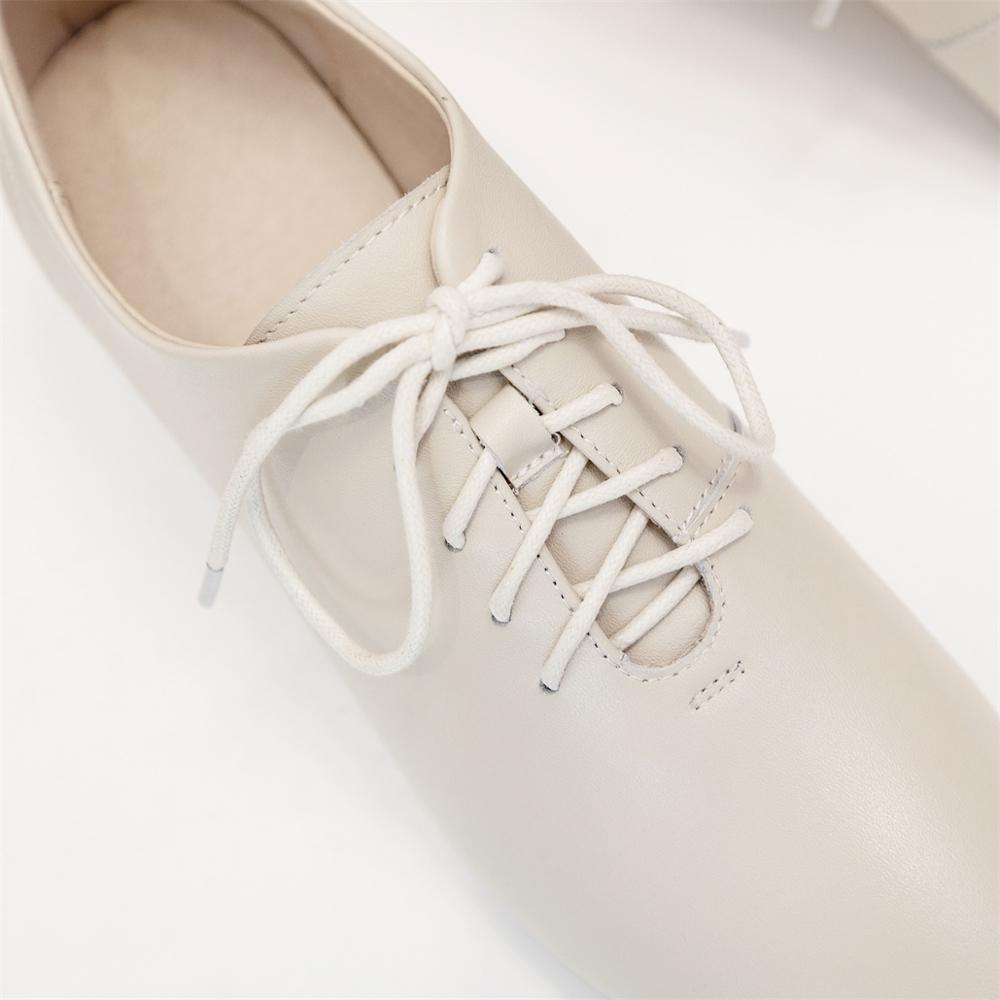 Осень зима; модная женская обувь из натуральной кожи; Тканевая обувь на толстом высоком каблуке 5 см с удобной подкладкой и перекрестными ремешками; женская обувь - 6