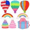 Hamburger Rainbow Pop Bubbles Fidget Toy Its Anti Stress Relief Toy For Children Adults Desk Sensory Autism Adhd Depression
