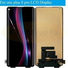 Para oneplus 8 pro display lcd painel de toque digitador da tela para oneplus 8pro lcd novas peças reposição para oneplus 8 display lcd