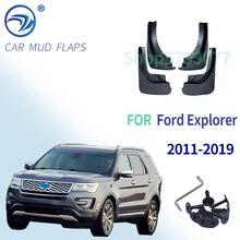 OE Styled kalıplı araba çamur Flaps Ford Explorer 2011 2019 için Mudflaps Splash muhafızları flep çamurluklar araba Styling