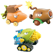 Plants vs Zombies Toys 2 Pirates Zombie Pullback Cars Launching Rugby H28001 Model-Toys