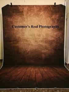 Image 5 - Laeacco Gradient jednokolorowe drewniane podłogi Grunge tła do fotografii portretowej Baby Shower tło do zdjęć rekwizyty studyjne