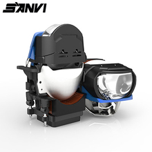 Sanvi farol de carro l81c bi, 2.5 polegadas, led & laser, lente projetora, 85w, 6000k, laser retrofit