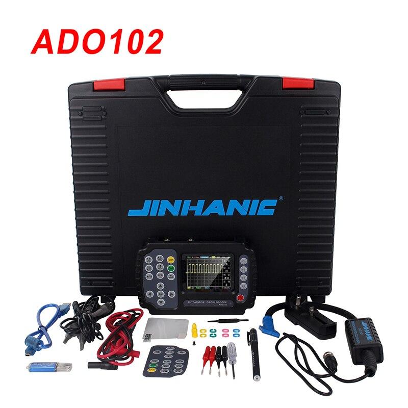 Portable Digital Oscilloscope Multimeter Automotive Oscilloscope Handheld Mini Oscilloscope 10MHz Bandwidth 100MSa/s ADO102