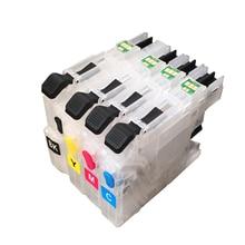 цена LC225 Refillable Ink Cartridge for Brother LC225 LC227  For Brother MFC J4420DW J4620DW J4625DW J5320DW J5620DW J5625DW J5720DW