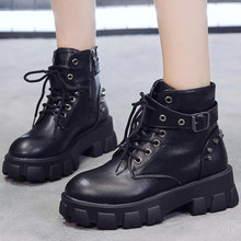 British style Sexy Rivet Womens Ankle Boots Platform Shoes High Heels Chunky Heel Gothic women Boots autumn single boots ll591(China)