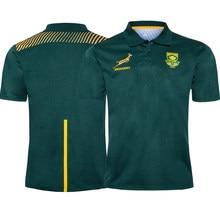 2020 áfrica do sul rugby polos bordado masculino springbok jérsei topos camisa esporte tamanho S-5XL