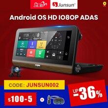 """Junsun E31P פרו רכב DVR מצלמה 4G עדס 7.80 """"אנדרואיד OS GPS Navigator רשם וידאו דאש מצלמת מקליט עם שתי מצלמות morror"""
