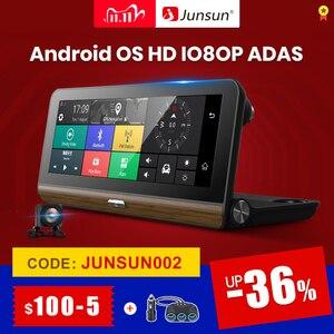 """Image 1 - Junsun E31P Pro Auto DVR Kamera 4G ADAS 7.80 """"Android OS GPS Navigator Registrar Video Dash Cam Recorder mit zwei kameras morror"""