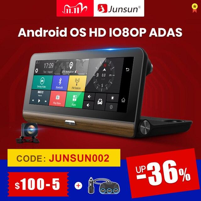 """Junsun E31P Pro Auto DVR Kamera 4G ADAS 7.80 """"Android OS GPS Navigator Registrar Video Dash Cam Recorder mit zwei kameras morror"""