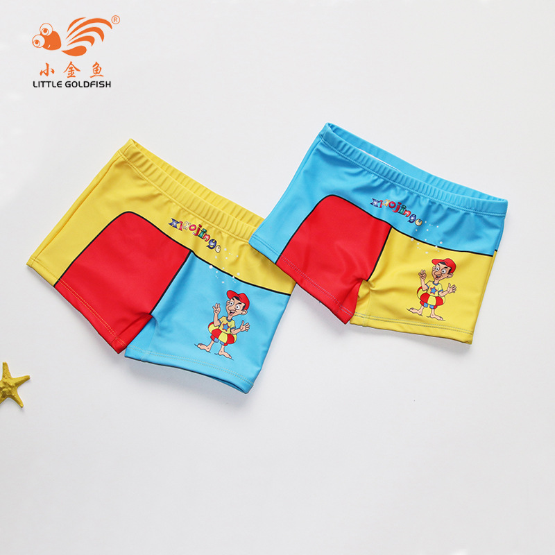 2018 New Style Small Goldfish CHILDREN'S Swimming Trunks Cartoon Mixed Colors BOY'S Hot Springs Beach Swimming Trunks Manufactur