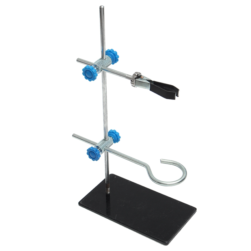 HOT-1Pcs 30Cm High Retort StandIron Stand With Clamp Clip Laboratory Ring Stand Equipment Lab School Education Supplies