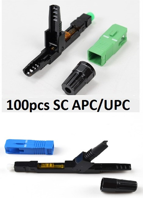 SC APC UPC Fast Connector SC FAST Connector Blue Fibra FTTH Single Mode SC Quick Connector SC Adapter Field Assembly Sc Connecto