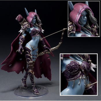 14cm WOW Action Figure Toys Sylvanas Windrunner Darkness Ranger Lady PVC WOW Figure For Collection Annie Brinquedos Model KA0444 1