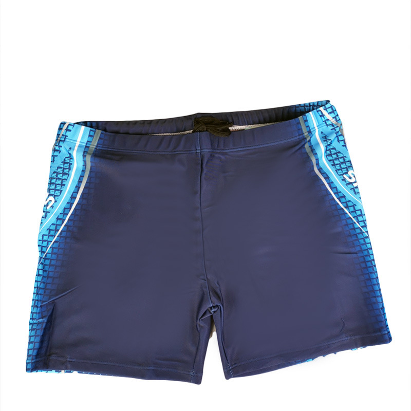 2020 New Style MEN'S Swimming Trunks Pool Water Park Swimming Trunks Polyester Fiber Fabric Men's Colour Printing Swimming Trunk