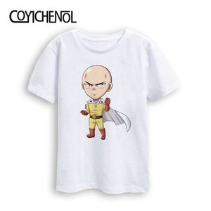 Image 5 - one punch man kids tshirt cute Kids plus size Kawaii Tshirt New 2 12 Years Animation Printed Cartoon kids Tops COYICHENOL