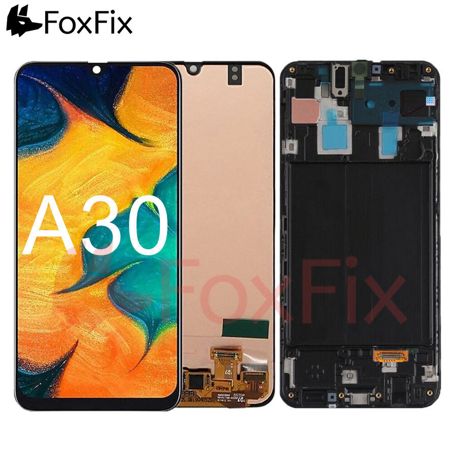 For <font><b>Samsung</b></font> Galaxy <font><b>A30</b></font> A305 A305F A305FN/DS <font><b>LCD</b></font> Display Touch <font><b>Screen</b></font> Digitizer Assembly With Frame For <font><b>SAMSUNG</b></font> <font><b>A30</b></font> <font><b>LCD</b></font> <font><b>Screen</b></font> image