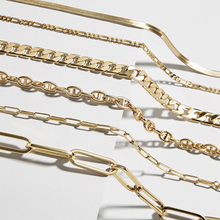 New Fashion Multi-style Snake Chain Necklace for Women Classic Gold Metal Thick Link Chain Choker Necklace Party Jewelry Gift