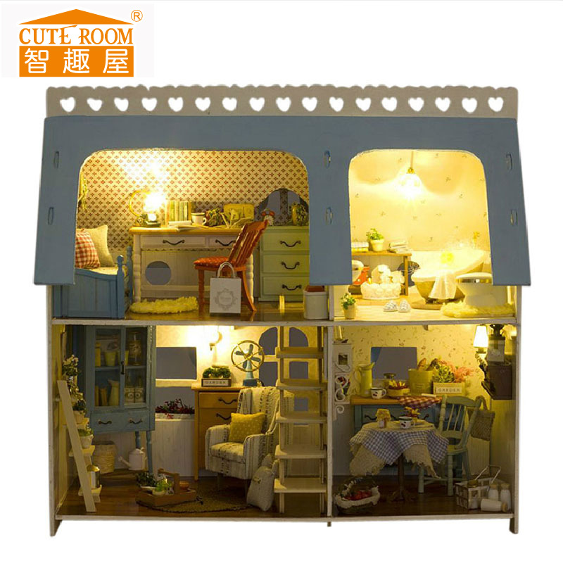 Cute Room Factory Price DIY Hut Romantic Scene Series Lodge Home X-009 Handmade Creative Gift