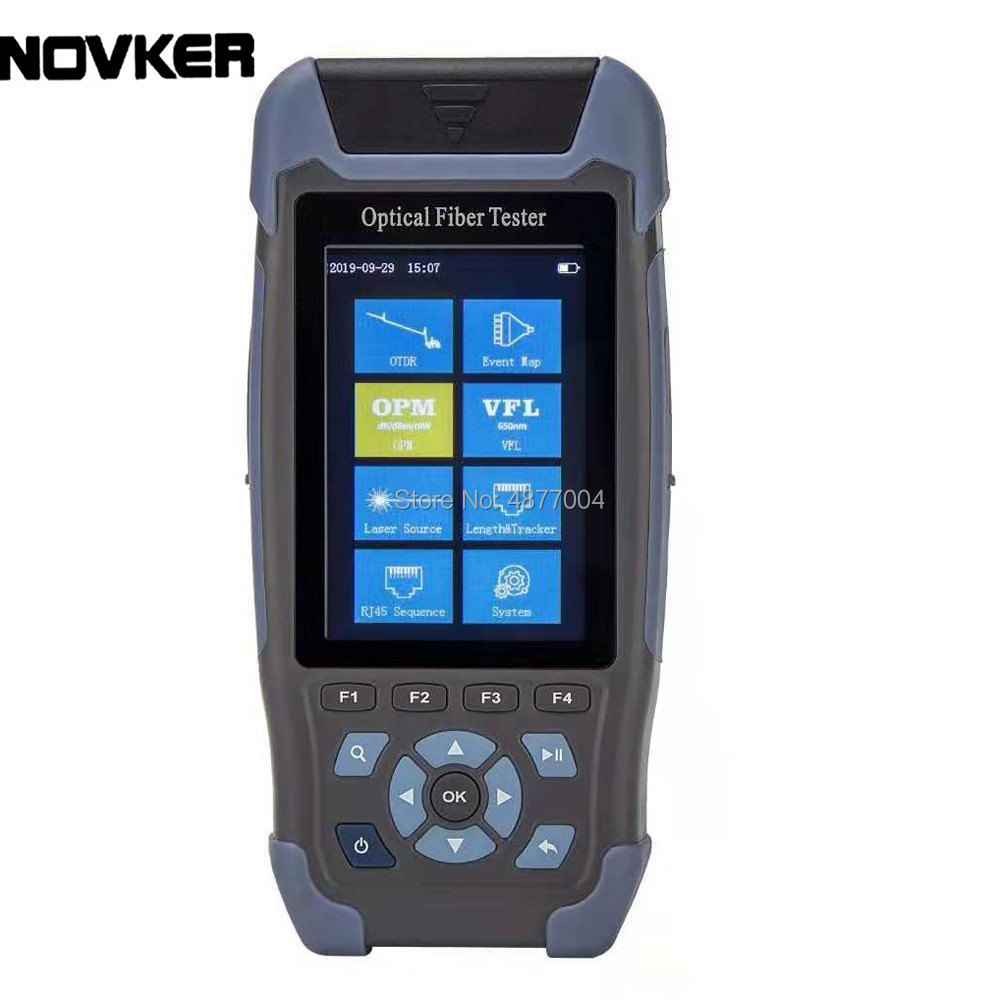 Cheap Pro Mini OTDR Fiber Optic Reflectometer 980rev With 9 Functions VFL OLS OPM Event Map 24dB For 64km Fiber Cable