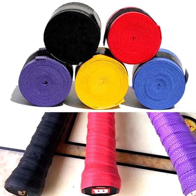 10pcs Badminton Sweat Belt Tennis Racket Band Towel Hand Glue Take-up Strap Handshake Handle Multi-color Non-slip Strap 1