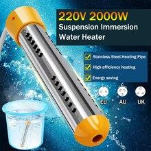 2000w aquecedor elétrico caldeira elemento de aquecimento água suspensão imersão portátil banheiro piscina au/ue/uk plug
